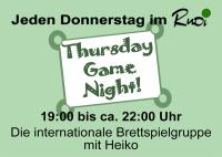 Thursday Game Night 2015 kl